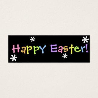 Glad påsk!  Bokmärke Litet Visitkort