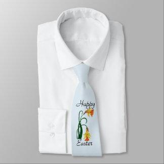 Glad påsk gul påskblomma slips