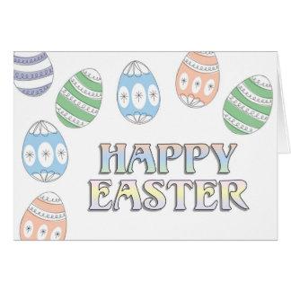 Glad påsk hälsningskort