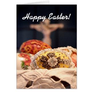 Glad påsk! hälsningskort