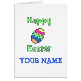 Glad påsk med ägget hälsningskort