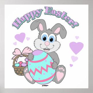 Glad påsk! Påskhare Poster