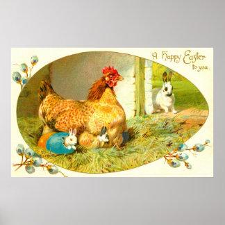 Glad påsk poster
