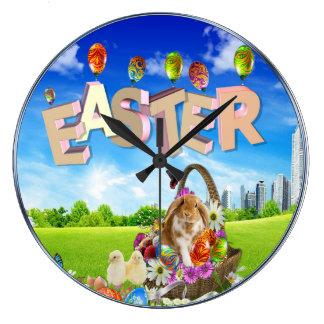 Glad påsk stor klocka