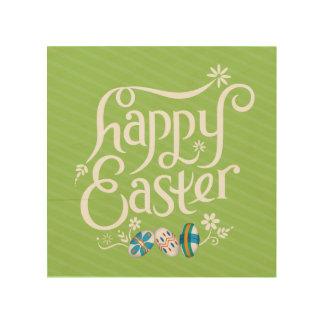 Glad påsk - väggkonst trätavla