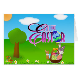 Glad påskkort hälsningskort