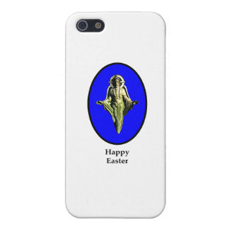 Glad påskKristus avbildar Canterbury blått iPhone 5 Cover