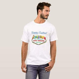 Glad påskLas Vegas skjorta med kaninen & ägg T-shirts