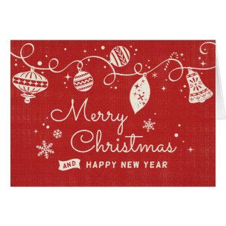 Glad Retro jul Hälsningskort