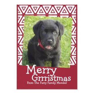 Glad Themed Grrristmas hund 12,7 X 17,8 Cm Inbjudningskort