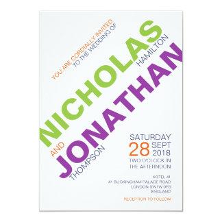 Glada bröllopinbjudningar för modern chic 12,7 x 17,8 cm inbjudningskort