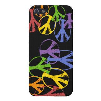 Glada fredsymboler s iPhone 5 skal