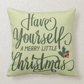 Glada lite järnekbär & text för jul | kudde