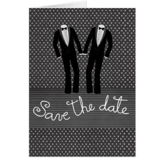 Glada manar bröllop spara datumkort hälsningskort