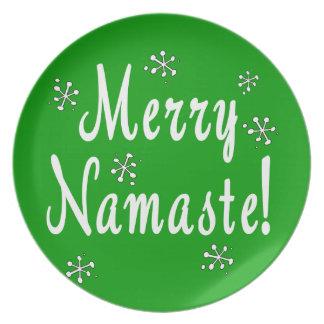 Glada Namaste pläterar Tallrik