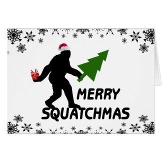 Glada Squatchmas Hälsningskort