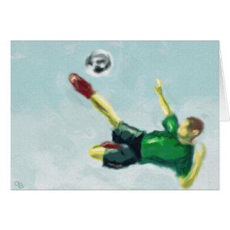 Glädje av fotbollkonst hälsningskort