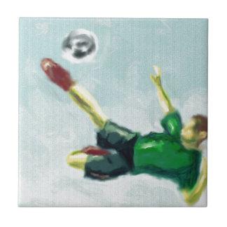 Glädje av fotbollkonst kakelplatta