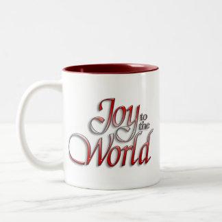 Glädje av världen Två-Tonad mugg
