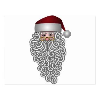 glädje för Santa Claus julhelgdagar Vykort