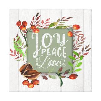 Glädje fred, svart tavlakran ID437 för kärlek Canvastryck