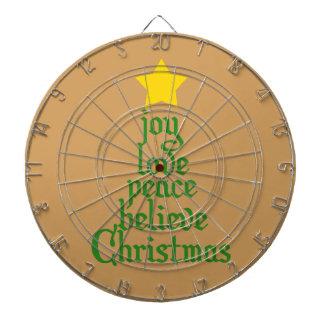 Glädje kärlek, fred som är tro, jul darttavla