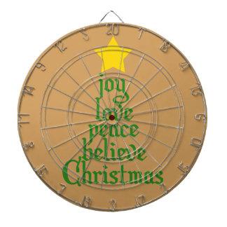 Glädje kärlek, fred som är tro, jul piltavla