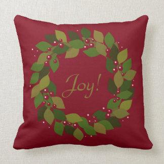 Glädje! | lantlig röd julkran kudde