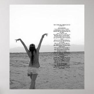 Glädje och sorg av Kahlil Gibran Poster
