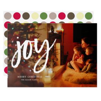 Glädje skrivar fotohelgdagkortet 12,7 x 17,8 cm inbjudningskort
