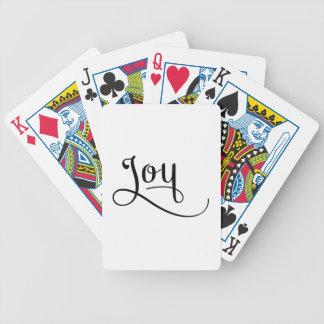 Glädje skrivar svart spelkort