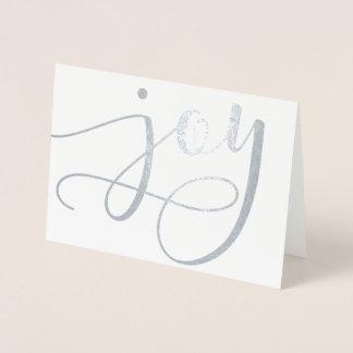 Glädje skrivar (verkligt omkullkasta), folierat kort