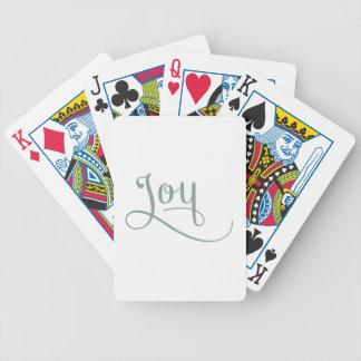 Glädje skrivar vis man spelkort