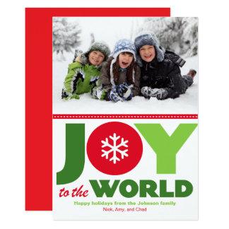 Glädje till det röda & gröna helgdagfotoet för 12,7 x 17,8 cm inbjudningskort