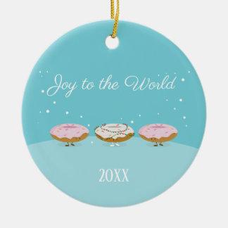Glädje till prydnaden för världsDonuts | Julgransprydnad Keramik