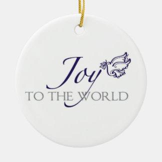 Glädje till världsjulprydnaden julgransprydnad keramik