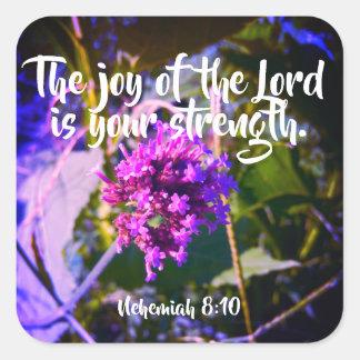 Glädjen av lorden Kristen Scripture Klistermärke