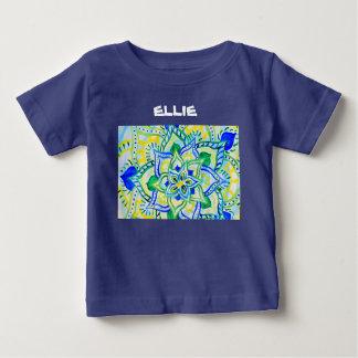 Gladlynt blom- vattenfärgmandala tshirts