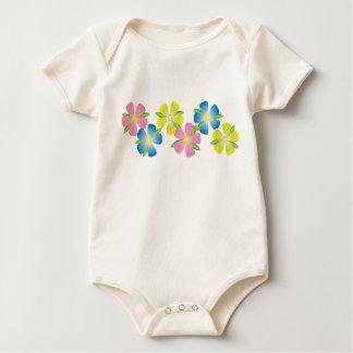 Gladlynt blommor body för baby