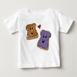 Gladlynt jordnötsmör- och gelétecknadvänner t-shirt