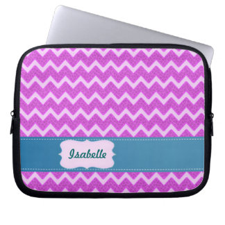 Gladlynt moderiktig rosa djur trycksparre laptop sleeve