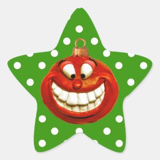 Gladlynt Orniment Stjärnformat Klistermärke