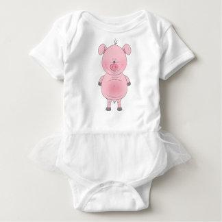 Gladlynt rosa gristecknadTutu Tee Shirt