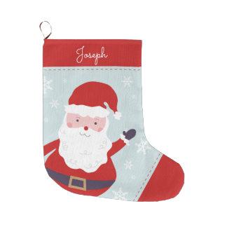 Gladlynt Santa Stor Julstrumpa