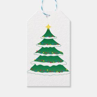 Gladlynt stamträd för juljulaftonhelgdag presentetikett