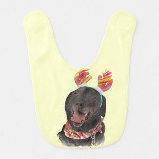 Gladlynt svart haklapp för baby för hund för hakklapp