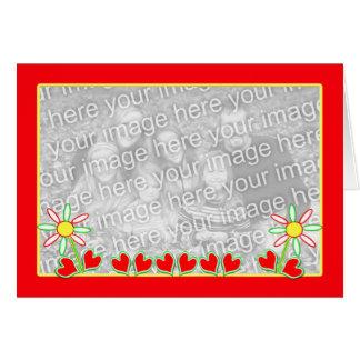 Gladlynt valentin (fotomallen) hälsningskort