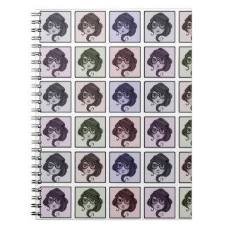 Gladys fotoanteckningsbok anteckningsbok med spiral