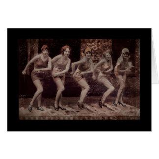 Glam dansa för flickaklaffar hälsningskort