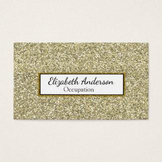 Glam Denim och guld- glitter Visitkort